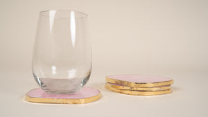 Crystal Coaster Gold Plated