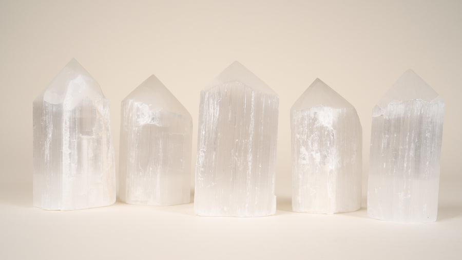 Selenite - Polished Crystal Point