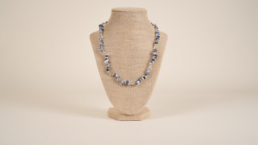 Sodalite, Quartz Necklace