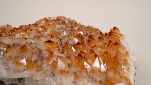 Large Heated Citrine Cluster