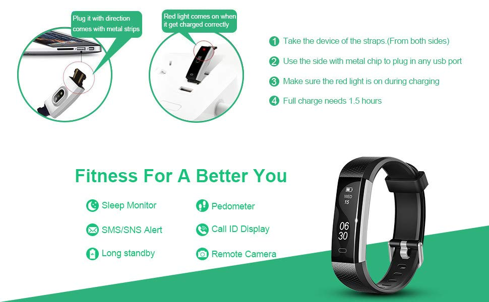 Lintelek Fitness Tracker ID115U HR instructions and features