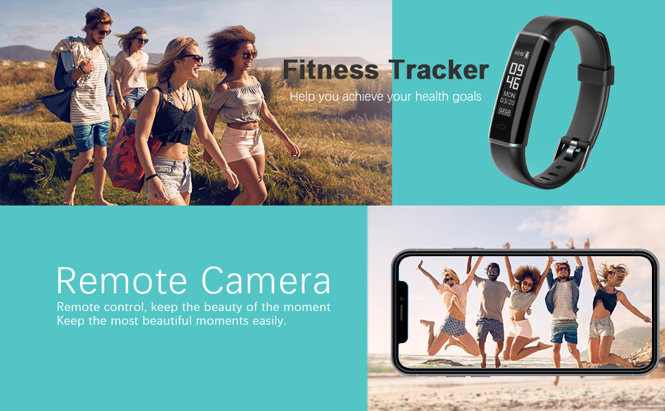 Lintelek Children Fitness Tracker Heart Rate Monitor ID130mini remote camera