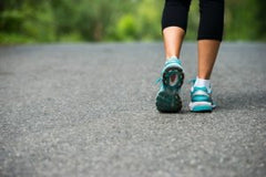 The benefits of brisk walking