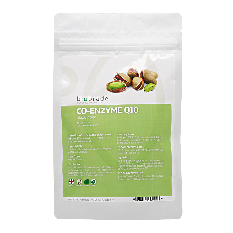 Biobrade Co Enzyme Q10 (Ubiquinone)100mg Gel Capsules
