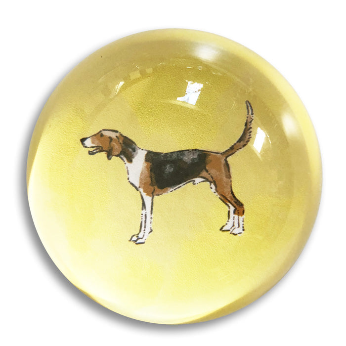 "Hound - 3"" crystal paperweight"