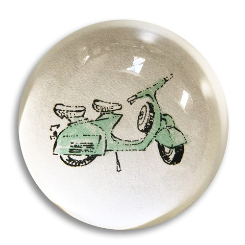 "Scooter - 3"" crystal paperweight"