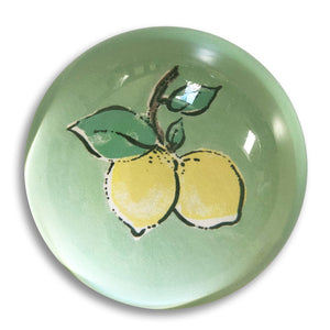 "Capri lemon - 3"" crystal paperweight"