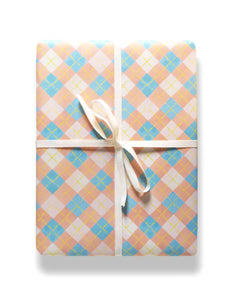 Argyle gift wrap by Capri Luna