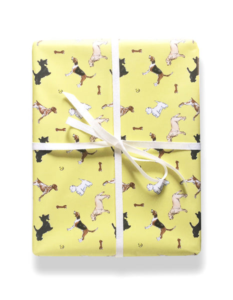 Yellow buddy gift wrap by Capri LUna