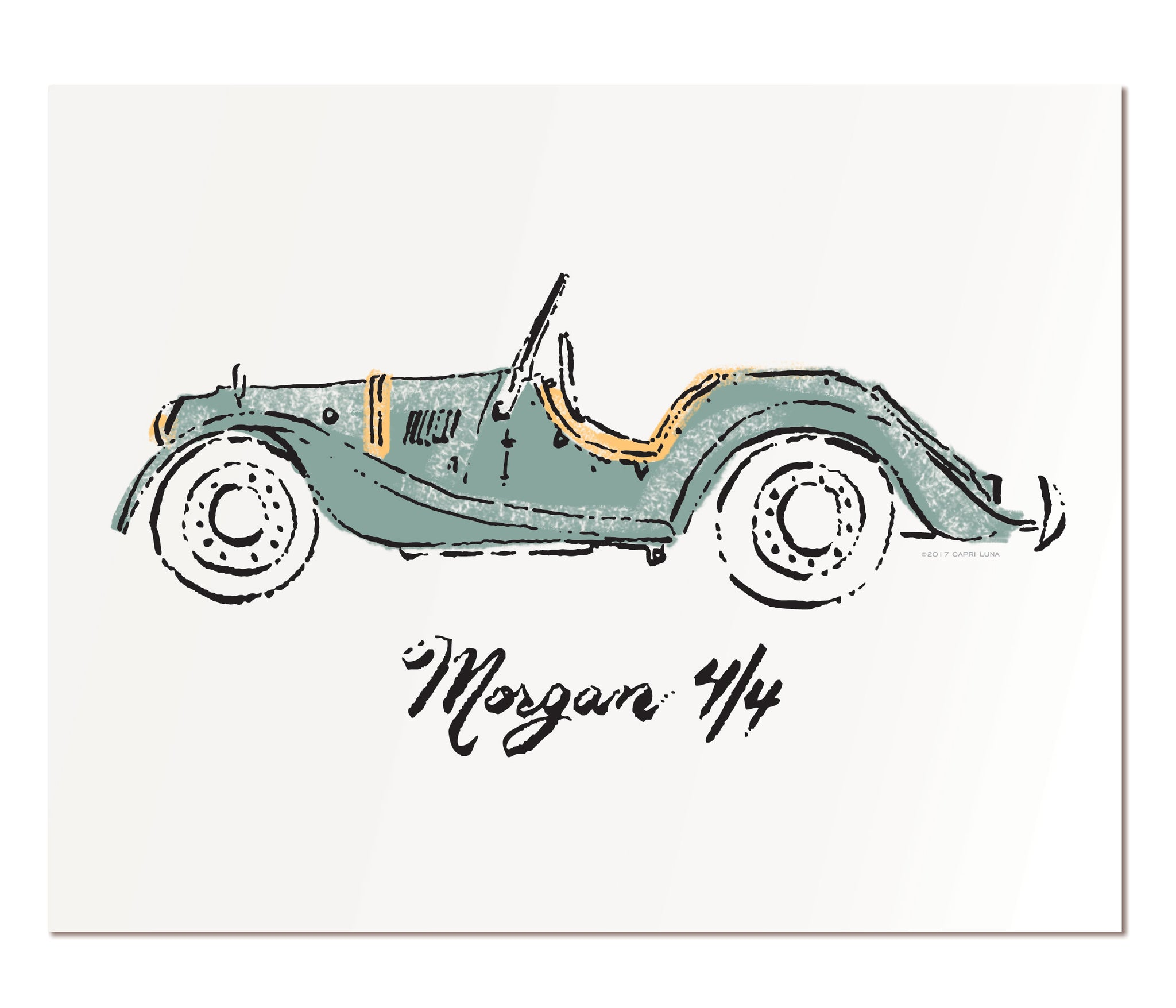 "Morgan 4/4 - 11x14"" art print"