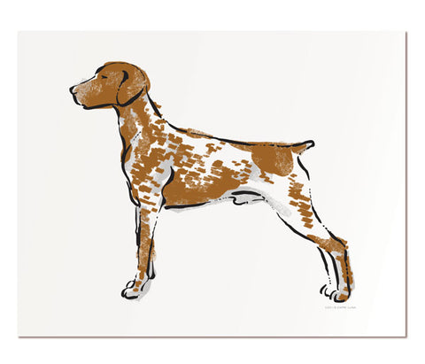 "German Shorthaired Pointer - 8x10"" art print"