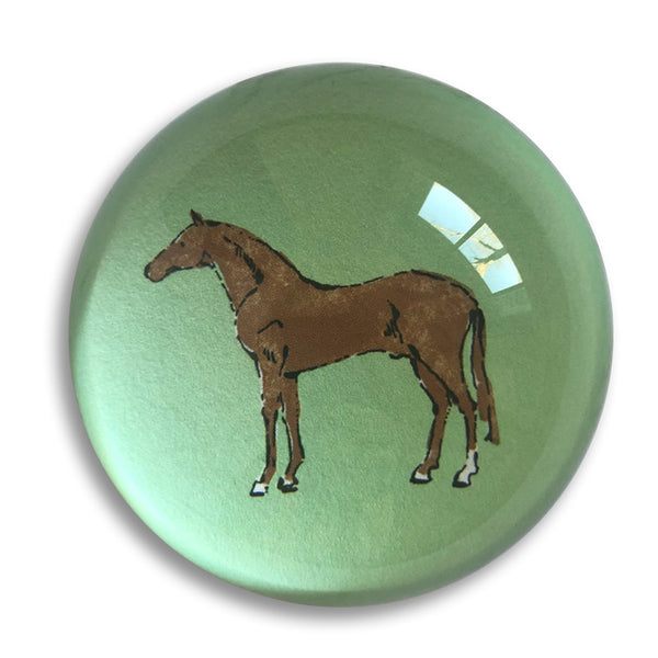 "3"" crystal paperweight horse motif by capri luna"