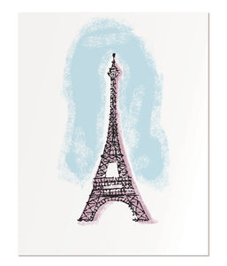 "Eiffel Tower - 11x14"" art print"
