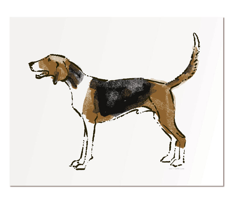 "Fox hound - 11x14"" art print"