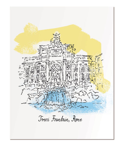 "Trevi Fountain - 11x14"" art print"