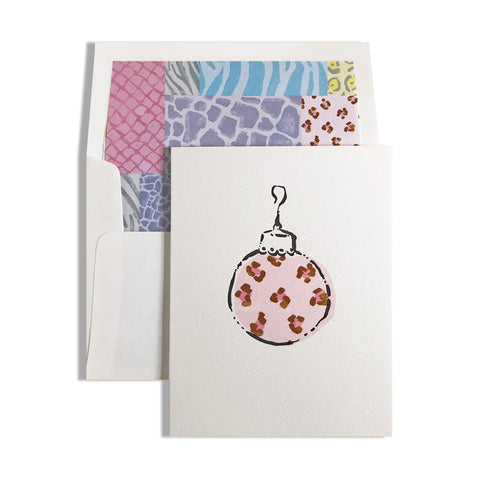 animal print cheetah holiday ornament note by capri luna