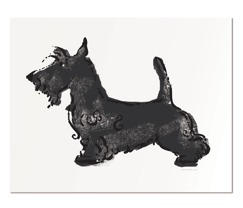 Scottish Terriers 11x14""