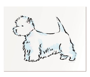 "West Highland White Terrier - 8x10"" art print"