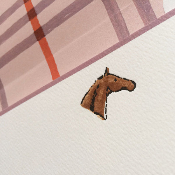horse head flat note (detail) by Capri Luna