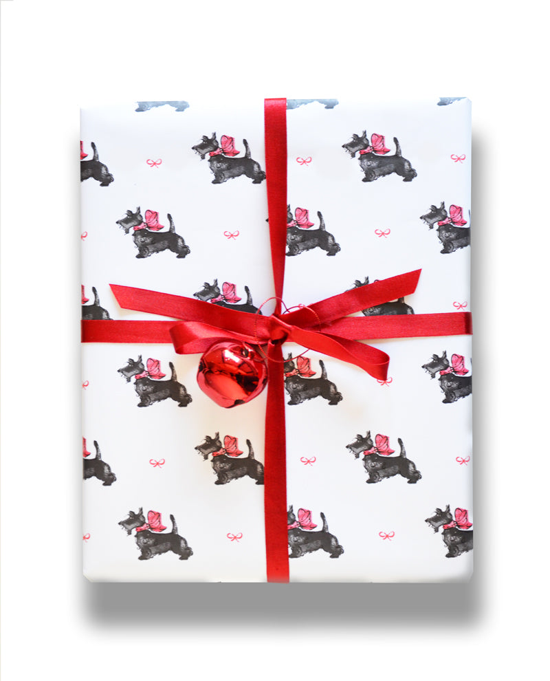 Scotties gift wrap by Capri Luna