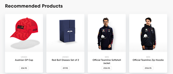Red Bull recommended products