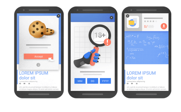 Google - Acceptable interstitial examples