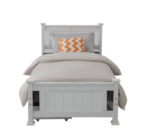 King Single Solid Pine Timber Bed Frame - White