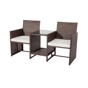 Manly Twin Chair  2-Seater Set – Brown