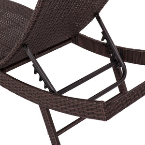 Pola Outdoor PE Wicker Sunbeds Package-Brown