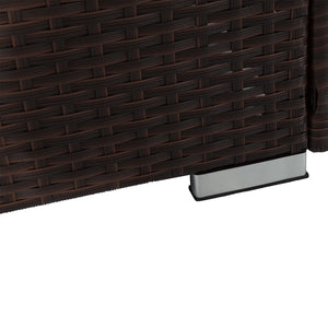 Borocay Wicker Sunbed Package with Side Table - Black