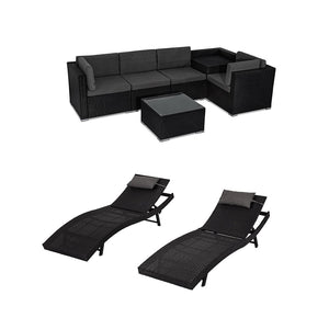 DREAMO Modular Lounge Sofa +Twin Pack Sunbeds
