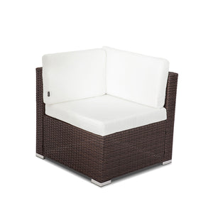 Living Outdoor Furniture Modular Lounge Components Corner Sofa-Brown