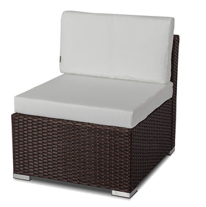 Outdoor Furniture Modular Lounge One Seater Sofa - Brown