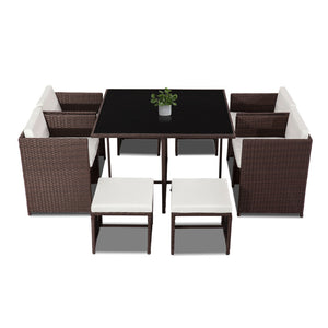 Horrocks 8 Seater Outdoor Dining Set – Brown