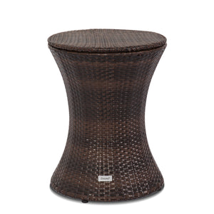 PE Wicker Ice Bucket With Height Adjustable Table