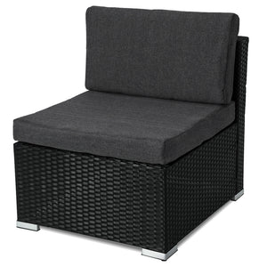 Outdoor Furniture Modular Lounge One Seater Sofa - Black