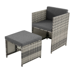 Bali 11 Piece Outdoor Dining Set - Grey