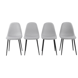 4 x Replica Eames Chairs Dining Office Cafe Lounge-Dike Ash
