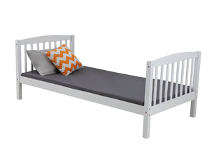 2-In-1 Solid Pine Single Timber Bunk Bed Frame-White