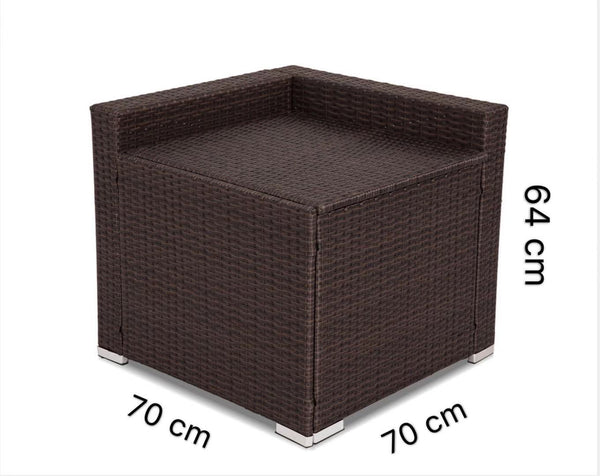 Living Outdoor Furniture Modular Lounge Components Corner Storage-Brown