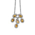 Pendant & Earrings With Yellow Topaz & 5A Cubic Zirconia In Sterling Silver