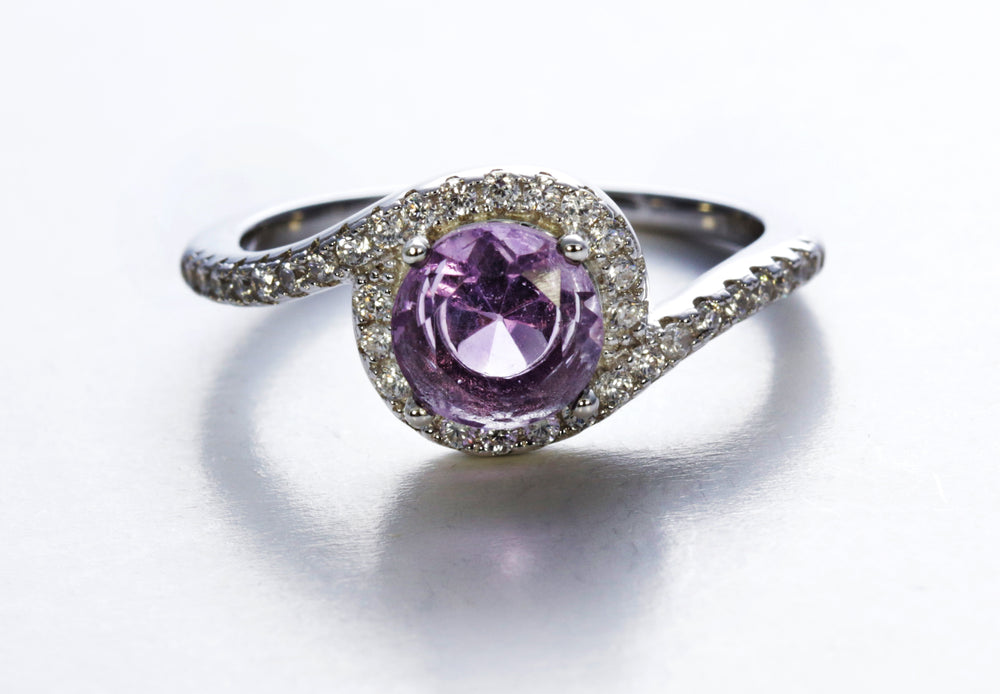 Split Bypass Amethyst Ring