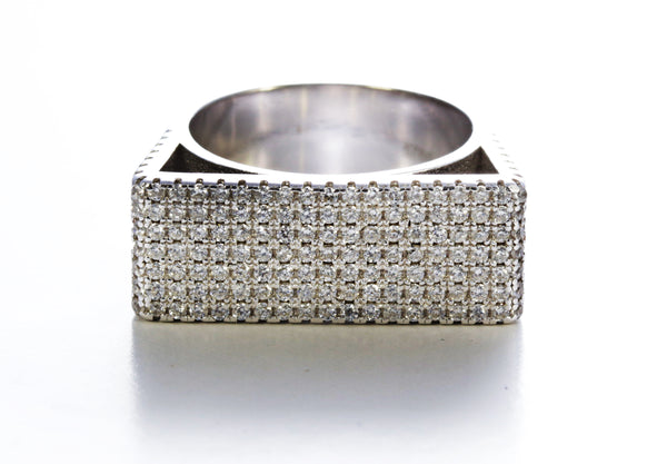 Zircon Micro Pave Ring