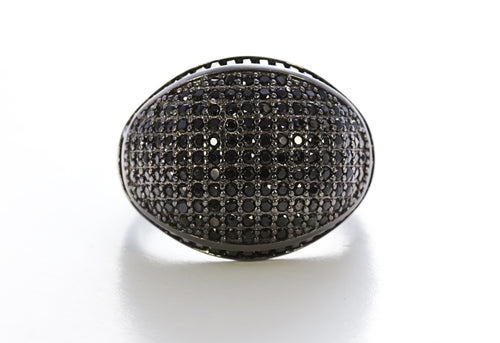 Onyx Micro Pave Ring