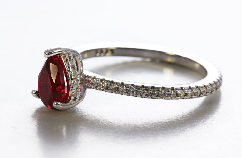 Pear Cut Garnet Ring