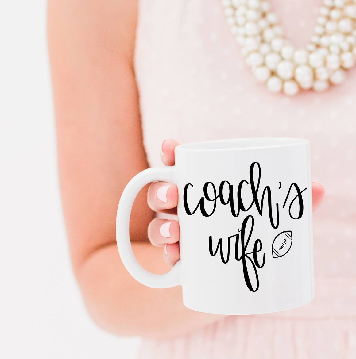 Full Heart Co's Hand-Lettered Coach's Wife mug. The perfect gift for the coach's wife this football season. Buy it for yourself or a friend.