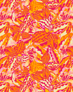 AMALIA TOSS DIGITAL FLORAL PRINT-papaya