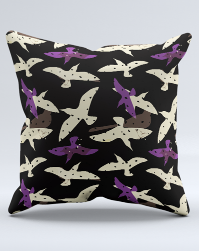 AND THE BIRDS DIGITAL CONVERSATIONAL PRINT- onyx