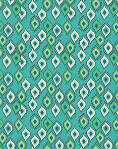 BINDI DANCE ETHNIC PRINTED FABRIC-peacock