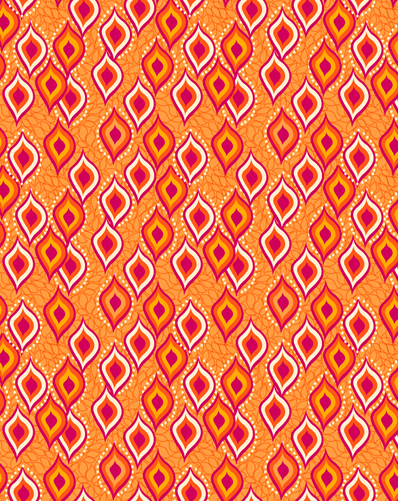 BINDI DANCE ETHNIC PRINTED FABRIC-sunset